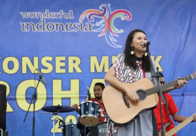Gebby Idol Hibur Wisatawan Timor Leste di Konser Musik Rohani Mota'ain